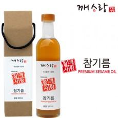 국산 참기름 300ml 선물박스 덜볶은 참기름 무료배송