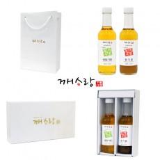 [추석선물세트] 국산 생들기름 170ml 국산 참기름 170ml 선물세트 쇼핑백 증정