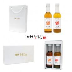 [추석선물세트] 국산 참기름 170ml 국산 들기름 170ml 선물세트 쇼핑백 증정
