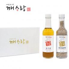 [추석선물세트] 국산 참기름 170ml 국산 볶은통참깨100g선물세트 쇼핑백 증정